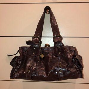 Helen Welsh Small Brown Leather Shoulder Bag